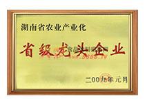省级龙头企业证书