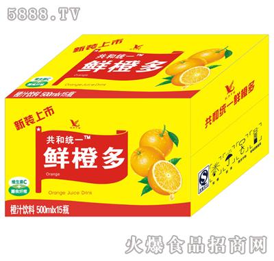 共和统一鲜橙多箱装500mlx15瓶