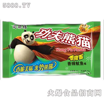 同碗福功夫熊猫香脆面香辣鱿鱼味