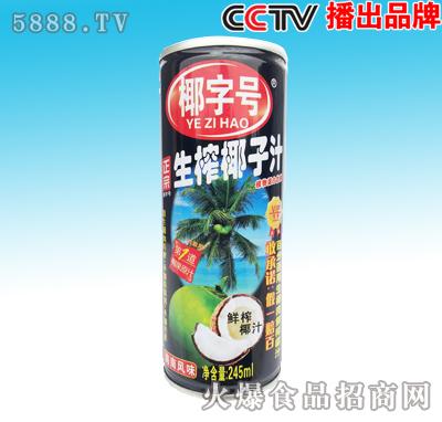 245ml椰字号生榨椰子汁罐装