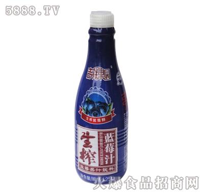 吉祥果园生榨蓝莓汁果汁饮料1.25L