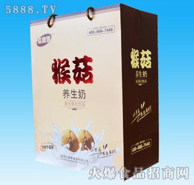 达康源猴菇养生奶手提礼盒
