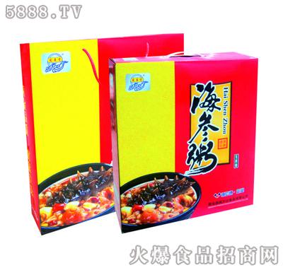 宏易堂海参粥无蔗糖320g6罐红盒装八宝粥