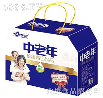 优克中老年多维高钙饮品礼盒装