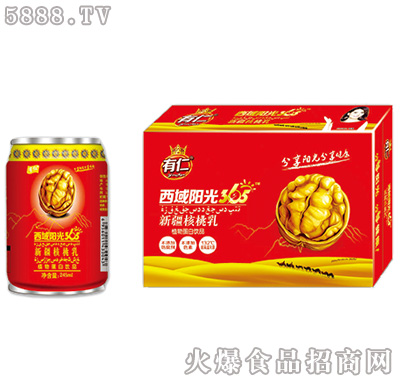 有仁西域阳光新疆核桃乳245ml×12罐