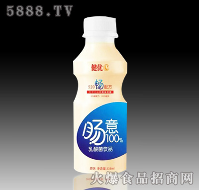 338ml健优C肠意100%乳酸菌饮品