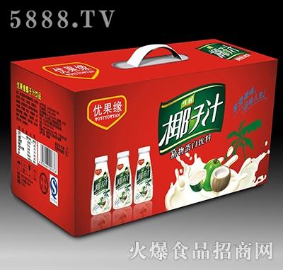 350mlL优果缘生榨椰子汁植物蛋白饮料礼盒