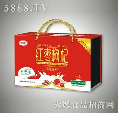 250mlx12盒亿隆红枣枸杞乳味饮品
