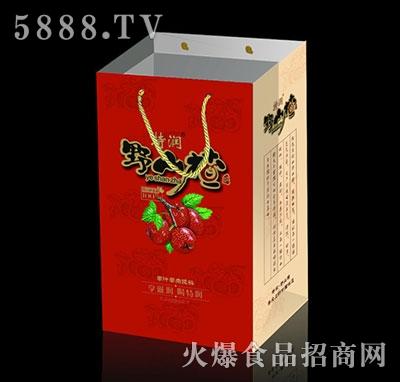 特润野山楂果汁果肉饮料380mlX15瓶手提袋