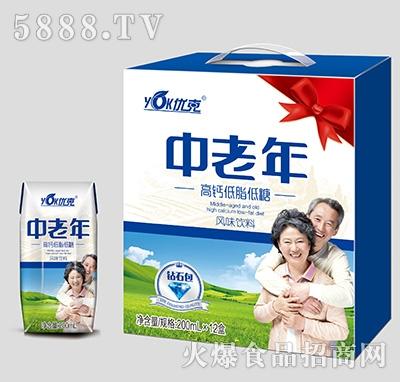 优克中老年高钙低脂低糖饮料钻石包200mlx12盒