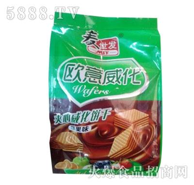 麦世发欧意夹心威化饼干246g)