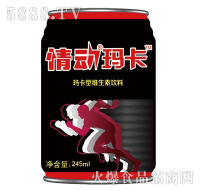 黑情动玛卡罐装245ml
