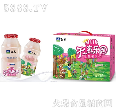 天惠乐园白雪公主乳酸菌饮品礼盒