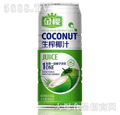 金樱最生榨椰汁罐装960ml