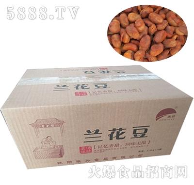 振益散装兰花豆箱装2.5kgX4袋