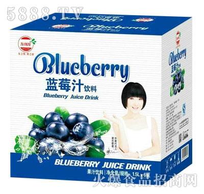 友利友蓝莓汁饮料1.5Lx6