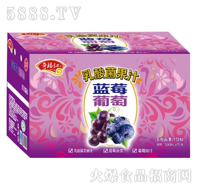 奇福记蓝莓葡萄乳酸菌果汁箱