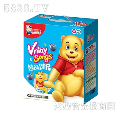 聪聪牛熊熊维尼蓝莓味乳味饮品礼盒