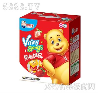 聪聪牛熊熊维尼草莓味乳味饮品礼盒