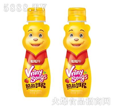 聪聪牛熊熊维尼草莓味乳味饮品200ml