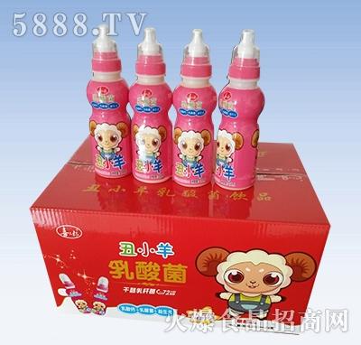 喜三郎丑小羊乳酸菌饮品箱装草莓味200mlx24瓶