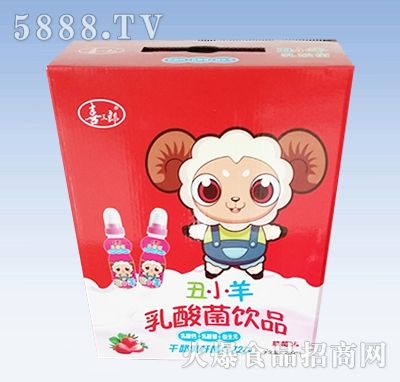 喜三郎丑小羊乳酸菌饮品箱装草莓味