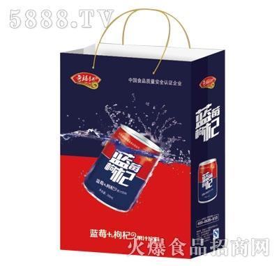 奇福记蓝莓枸杞果汁饮料手提袋