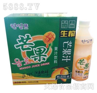 韩一芒果果汁饮料1000mlx6瓶
