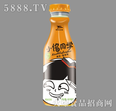 小�馔�学绿茶果味饮料瓶480ml