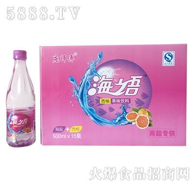 庞师傅海语西柚果味饮料500mlx15瓶