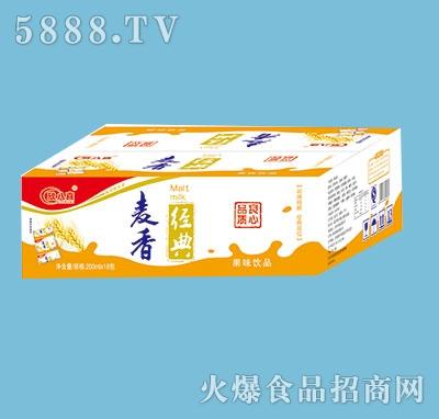 欣八喜奶麦香经典200mlx18包