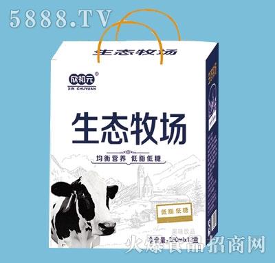 欣初元生态牧场低脂低糖250mlx12盒