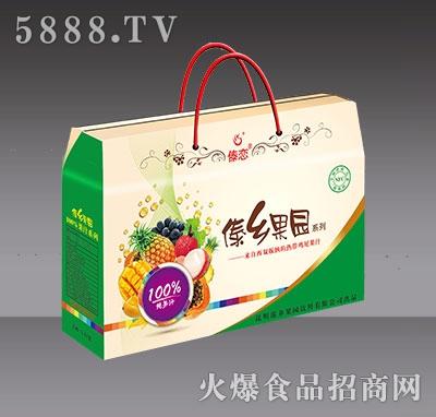新版4盒装傣乡果园纯果汁-背面