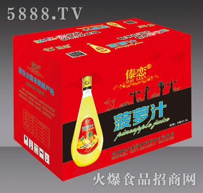 1.5L傣恋菠萝汁外箱