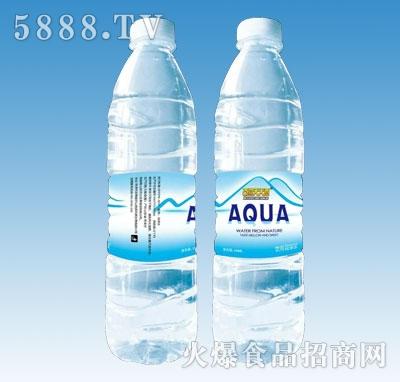 仿山龙潭饮用纯净水背面