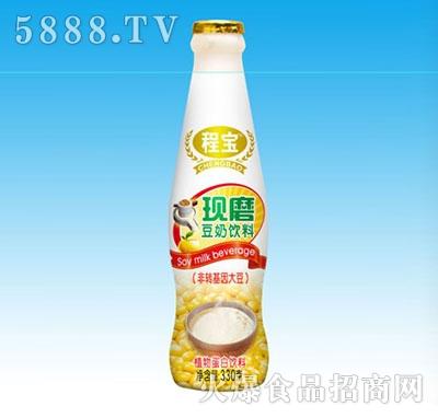 程宝现磨豆奶330植物蛋白饮料