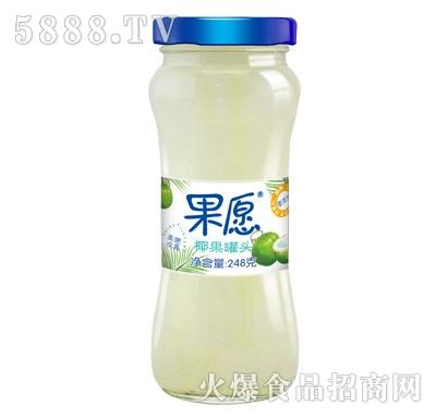 【果愿】椰果罐头 248g