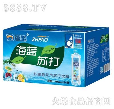 智跑海蓝苏打水400mlX24瓶