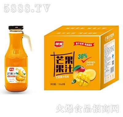 领舞芒果汁手柄1.5Lx6瓶