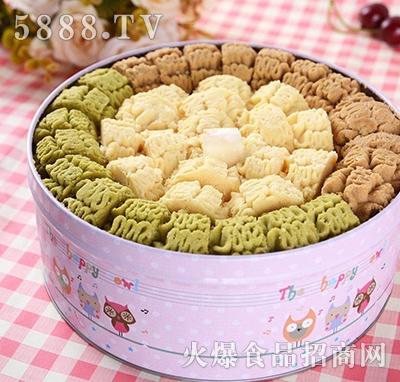 浪漫时光三拼曲奇饼干盒