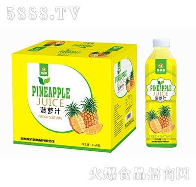 豫浪鑫呆小萌菠萝汁果汁饮料1Lx8瓶