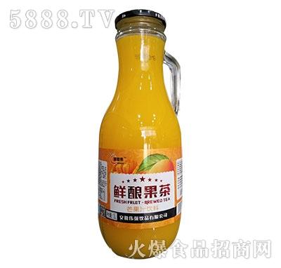 醇香果鲜酿果茶芒果汁1.5L瓶装