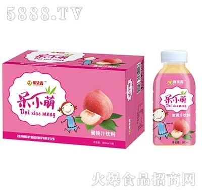 豫浪鑫呆小萌蜜桃汁果汁饮料380mlx15瓶