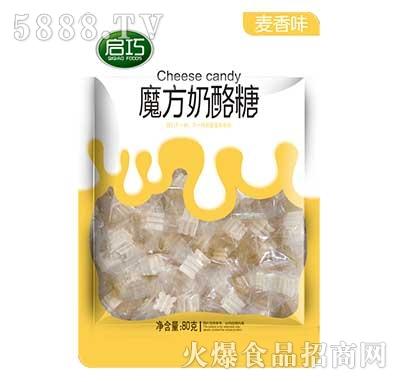 启巧魔方奶酪糖麦香味80g