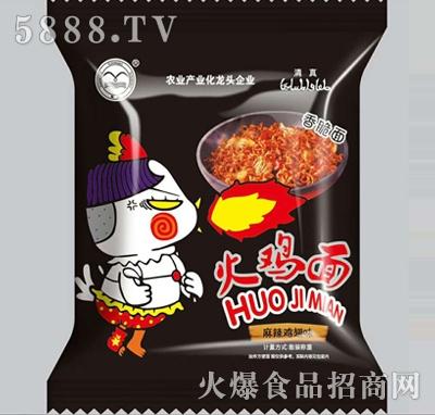 火鸡面干吃面麻辣鸡翅味
