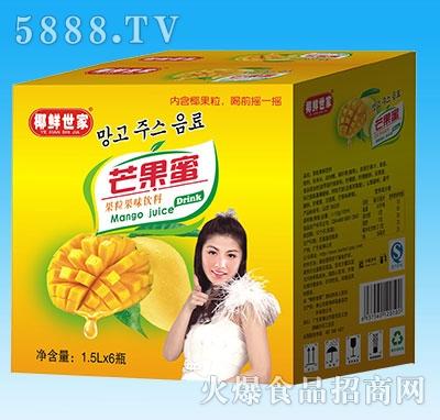椰鲜世家芒果蜜1.5Lx6瓶