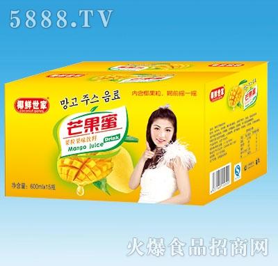 椰鲜世家芒果蜜600mLX15瓶纸箱