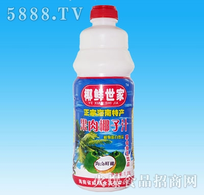 椰鲜世家果肉椰子汁1.25L瓶