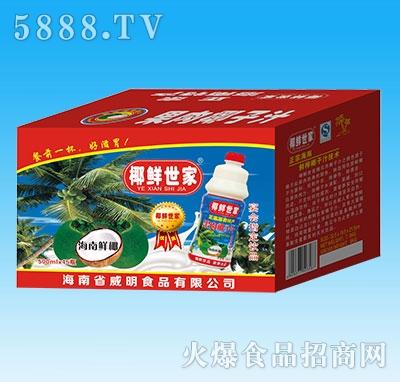 椰鲜世家果肉椰子汁500mLX15瓶纸箱