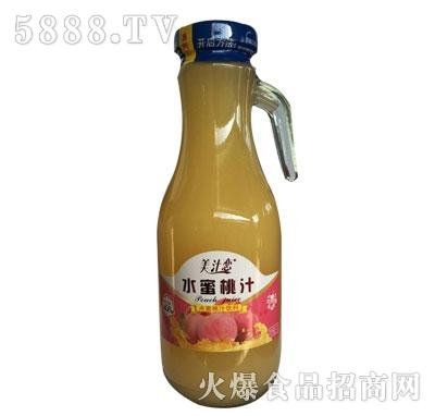 美汁恋水蜜桃汁果汁饮料1.5L